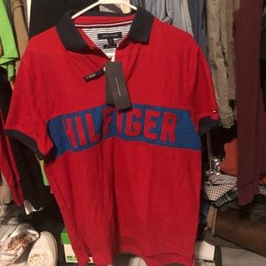 Tommy Hilfiger Red Polo Tee